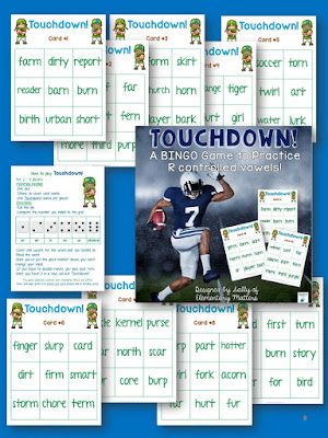 football themed vowel practice