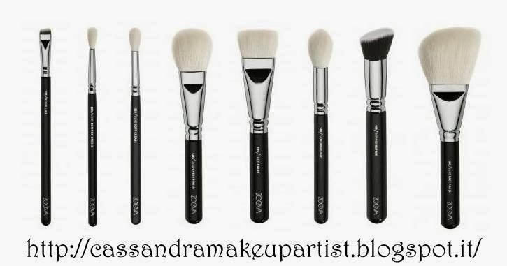 ZOEVA - Nuovi Pennelli 2014 - brush clutch - 100 Luxe Face Finish - 103 Defined Buffer - 105 Luxe Highlight - 109 Face Paint - 126 Luxe Cheek Finish - 221 Luxe Soft Crease - 224 Luxe Defined Crease - 322 Brow Line - review - recensione - prezzo - price -