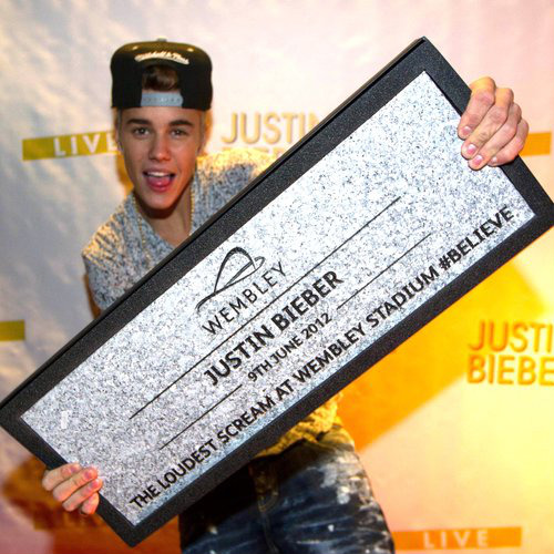 Justin Bieber receives Wembley Way Stone