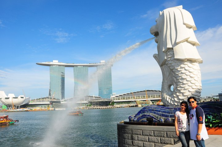 Singapore Marina Bay Merlion Marina Sands