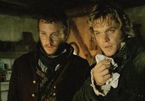 Heath Ledger y Matt Damon en El secreto de los hermanos Grimm