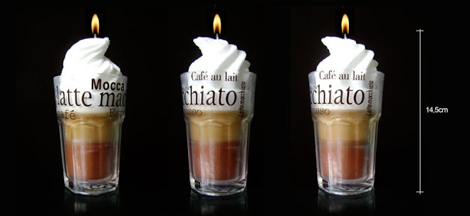 Mocaccino candle - copo em vidro - R$36,00