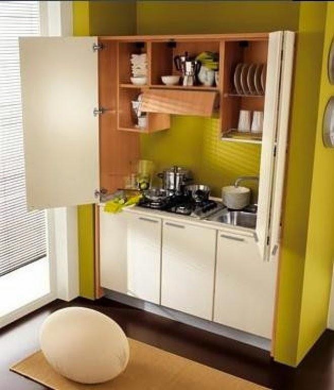 Dise o y decoraci n de la casa cocinas para espacios muy for Cocinas para espacios pequenos