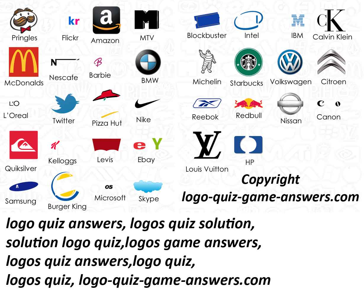 Windows 8 Logo Quiz Answers Level 1