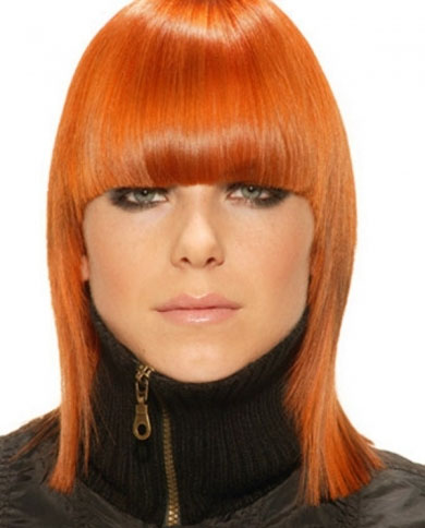 Medium Red Hair Style 2014