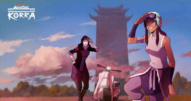 korra and asami - the legend of korra season 2