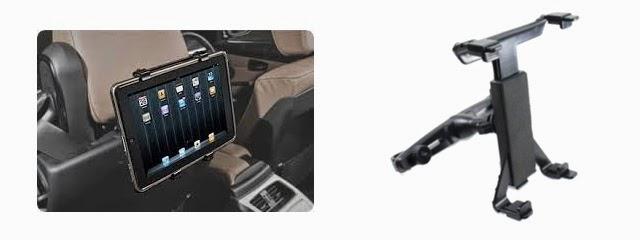 แบบติดหัวหมอนรถยนต์ ipad เป็น TV