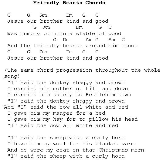 Christmas Carols Lyrics And History The Friendly Beast