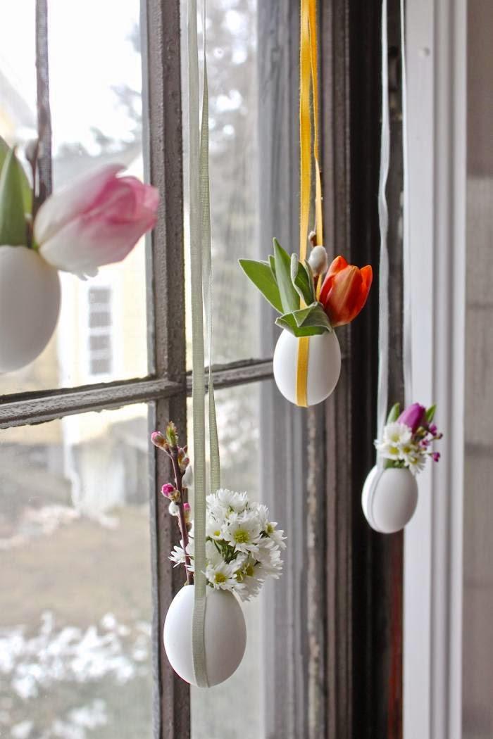 Húsvéti tojáscserepes ablakdekor