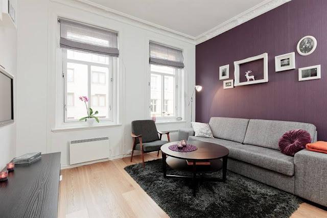 decoracao de sala lilas : decoracao de sala lilas:Decoração para apartamentos pequenos