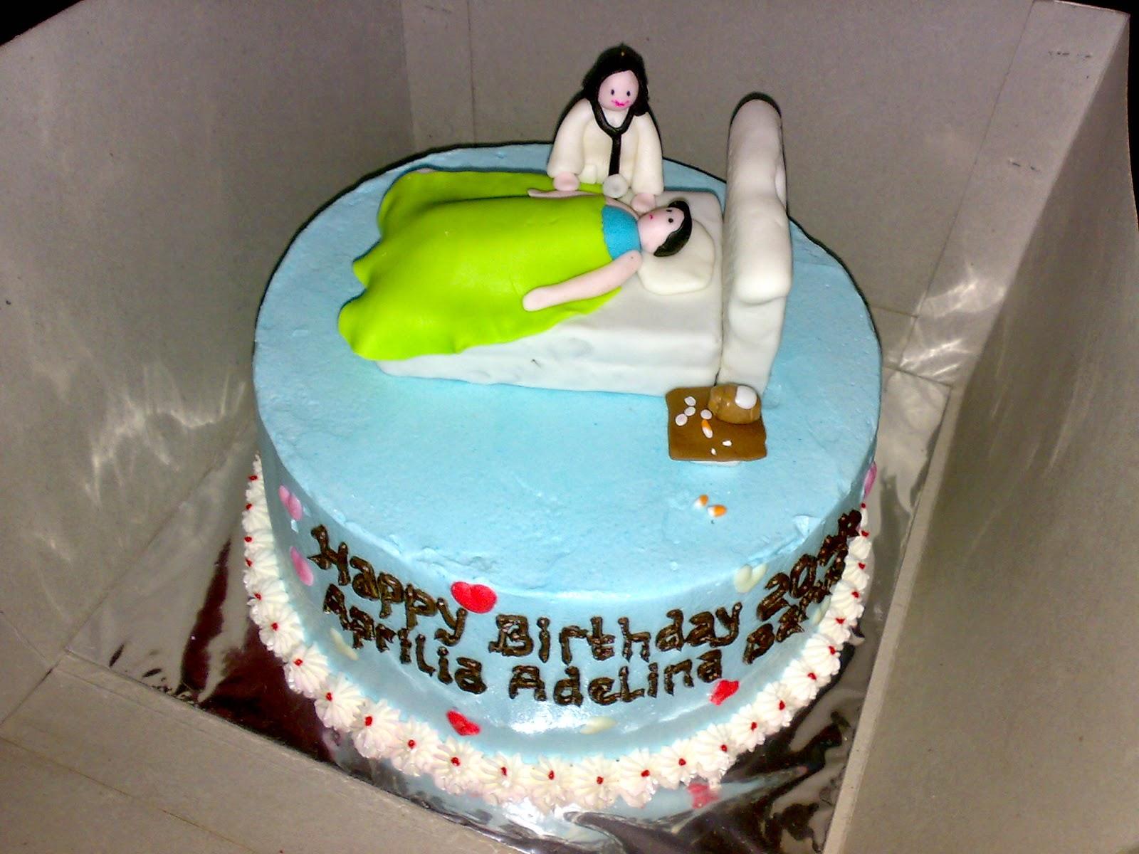 jual kue dengan tema dokter dan kesehatan