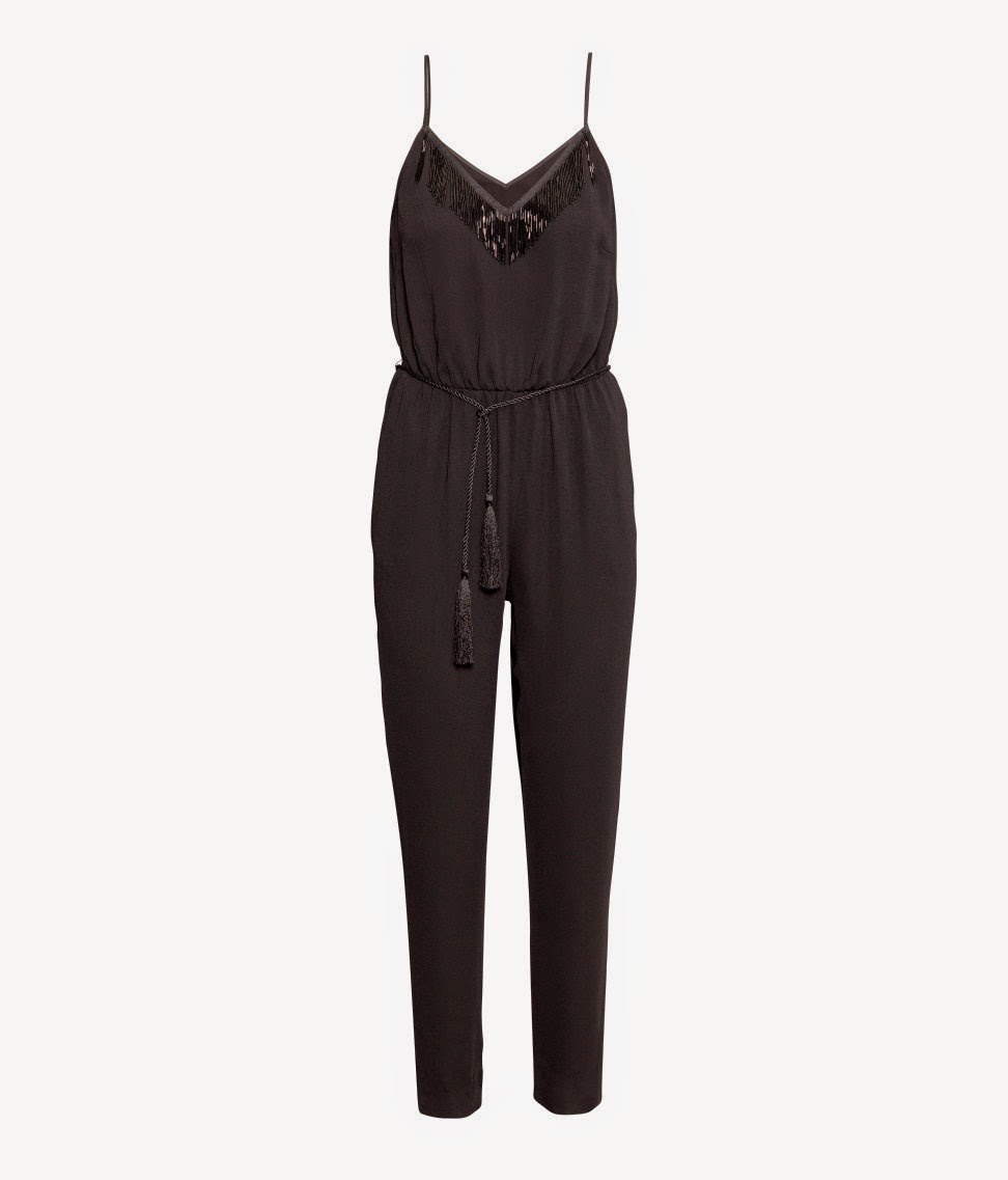 black fringe jumpsuit