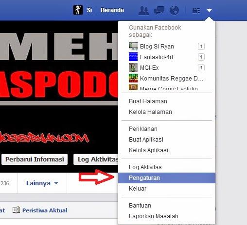 Menghapus akun facebook