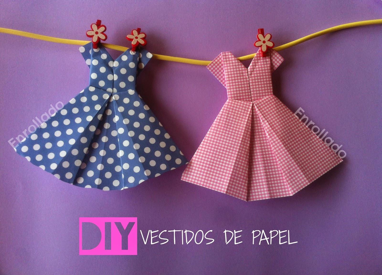 ENROLLADO: DIY VESTIDOS DE PAPEL