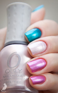 Orly It's Up to Blue + Orly Prim and Proper + Orly Sugar Plum