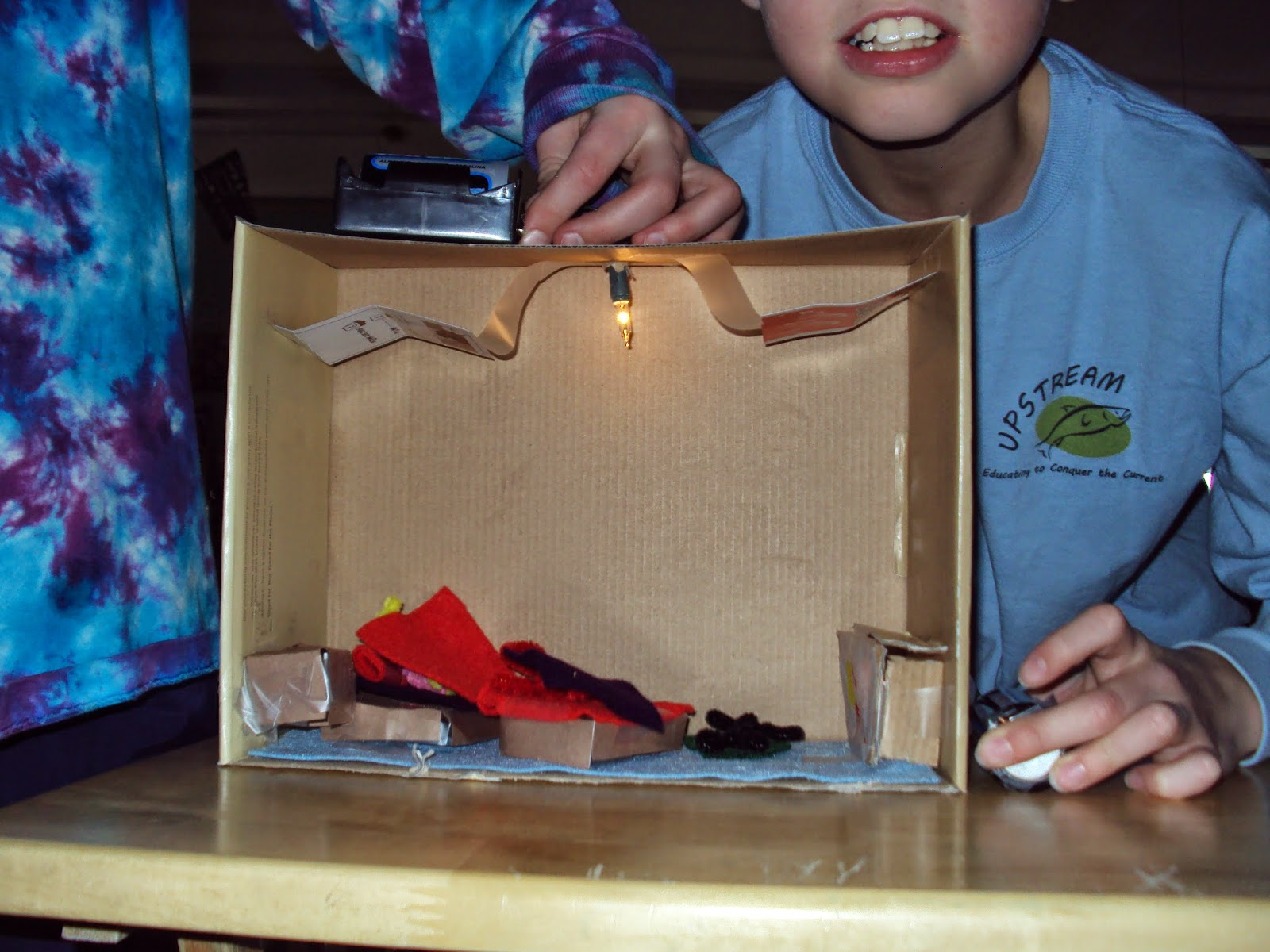 jiru's classroom: electric circuit shoebox project