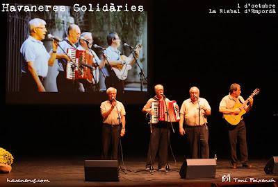 Grup Bergantí a la cantada d'Havaneres Solidàries de La Bisbal d'Empordà