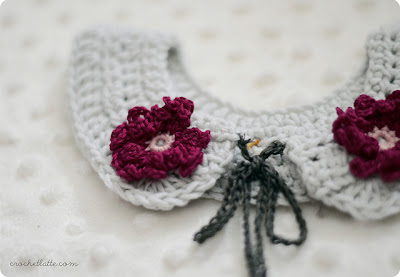 free crochet pattern flower girl collar