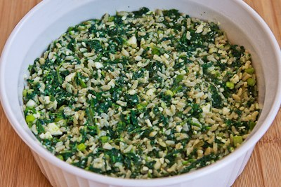 ... Kitchen®: Spinach and Feta Casserole with Brown Rice and Parmesan