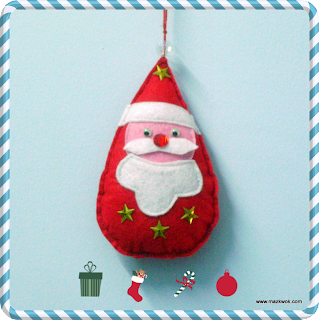 Santa felt ornament