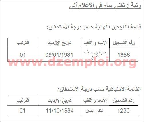 نتائج مسابقة التوظيف في مديرية التجارة لولاية بسكرة 2013 2.JPG