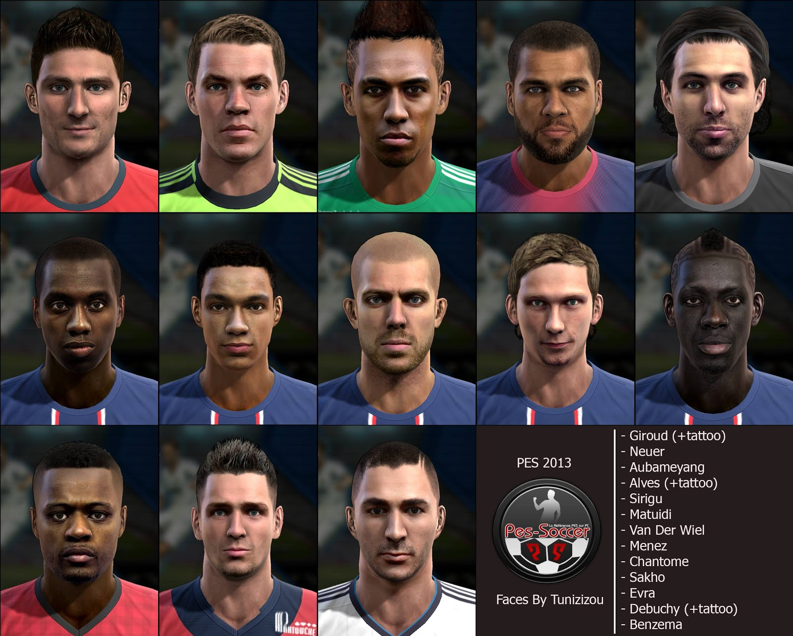 Mega Facepack com 13 Faces - PES 2013