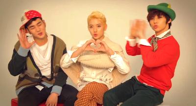 NU'EST members Baekho, Ren, and Minhyuk