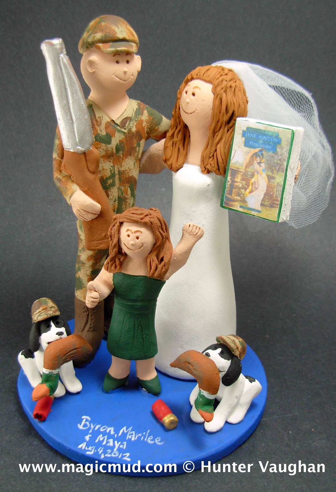 custom wedding cake toppers Wedding Cake Topper with Daughter