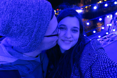Caitie and Bryce at Sydney Vivid Lights 2015