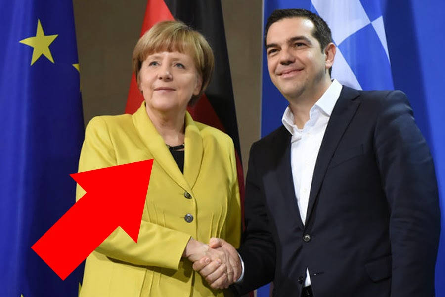 Embarrassing ! Merkel contributes to meeting with Alexis Tsipras no tie