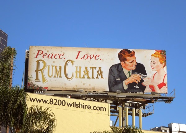 Retro Peace Love Rum Chata billboard