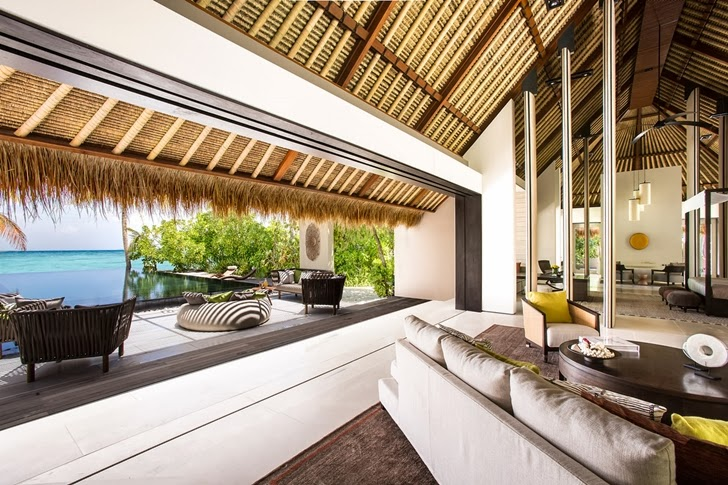 Open wall in Modern villa in Maldives by Jean-Michel Gathy