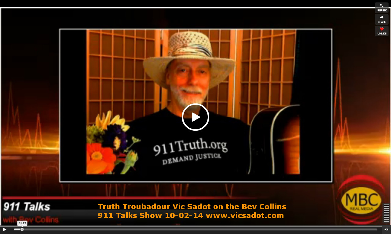 Truth Troubadour Vic Sadot Interview with Bev Collins