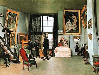 Фредерик Базиль. Мастерская художника. 1870.