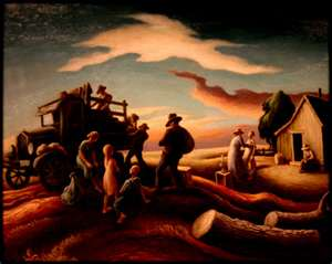 "On his return to New York in the early 1920s, Benton declared himself an ""enemy of modernism""."