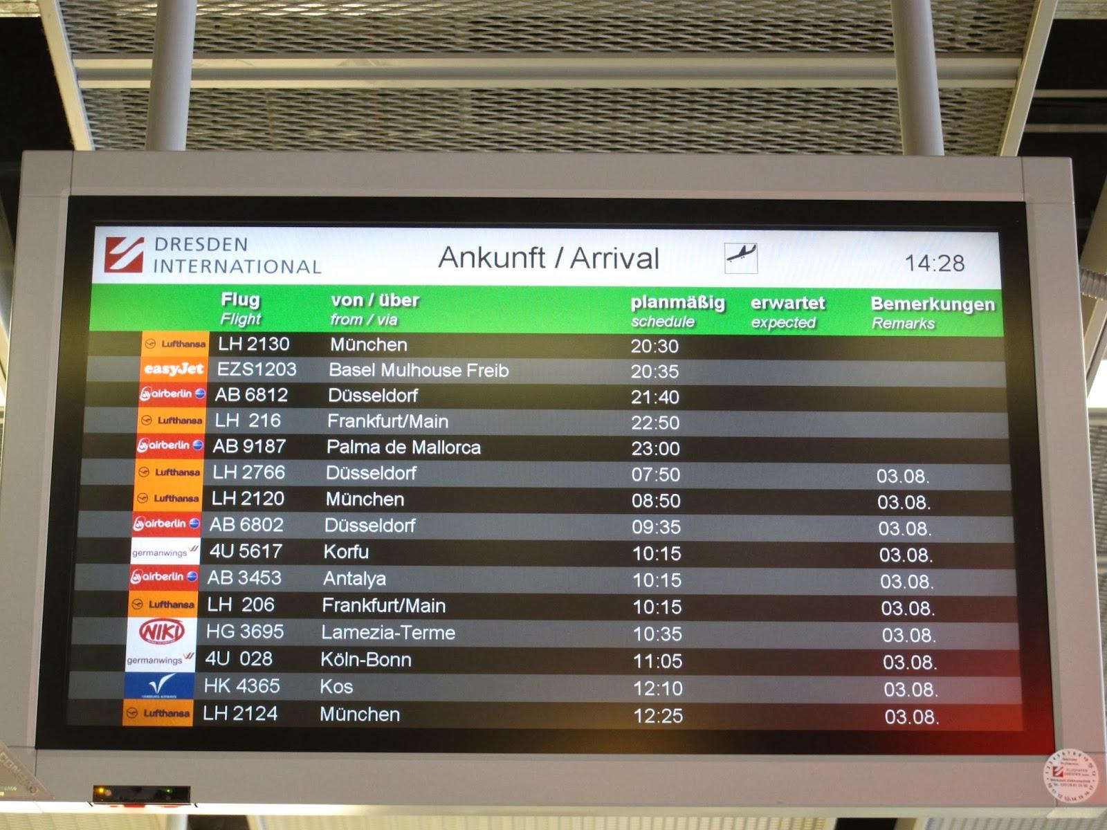 The Timetablist Arrivals At Dresden International August