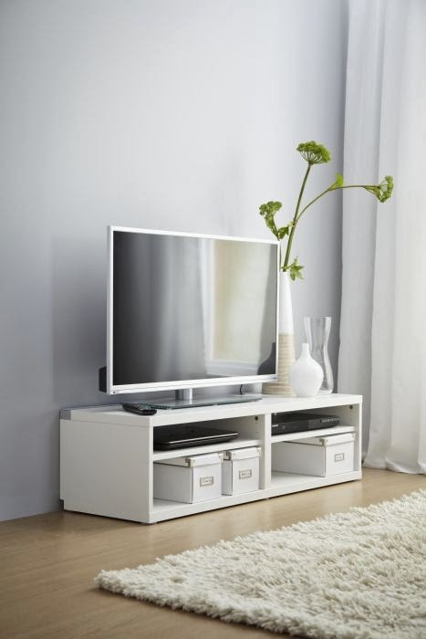 Hus i skogen: titter på tv benk