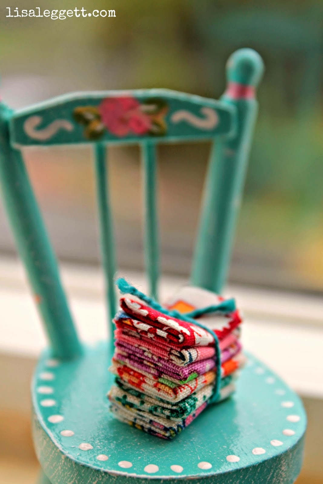 Mini Fat Quarters stack by Lisa Leggett
