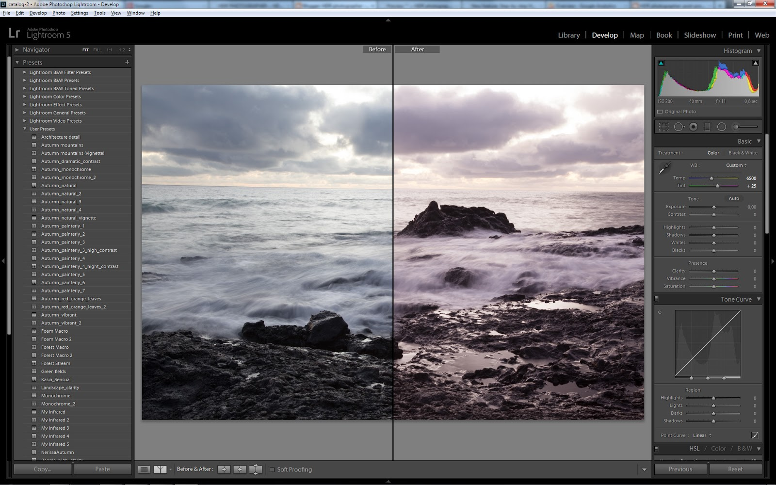 Post-processing in Lightroom