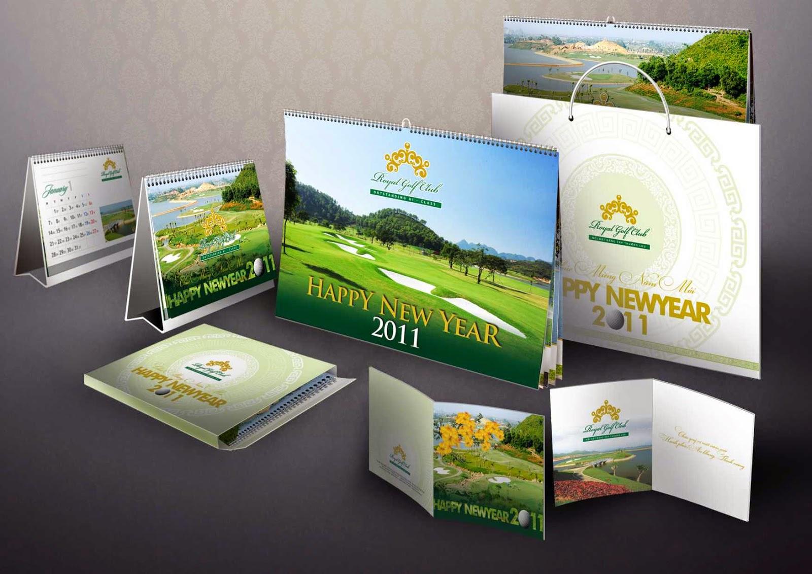 Mẫu lịch độc quyền Golf Club