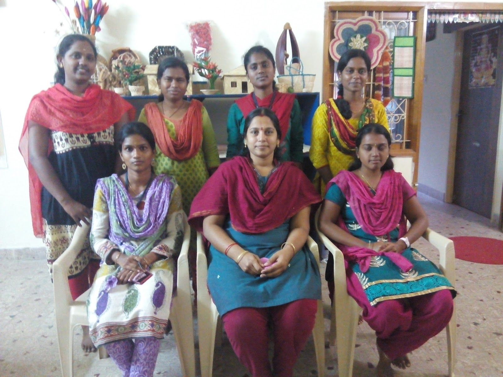 Eco Green Unit Training On Banana Fibre Crafts And Handicrafts For