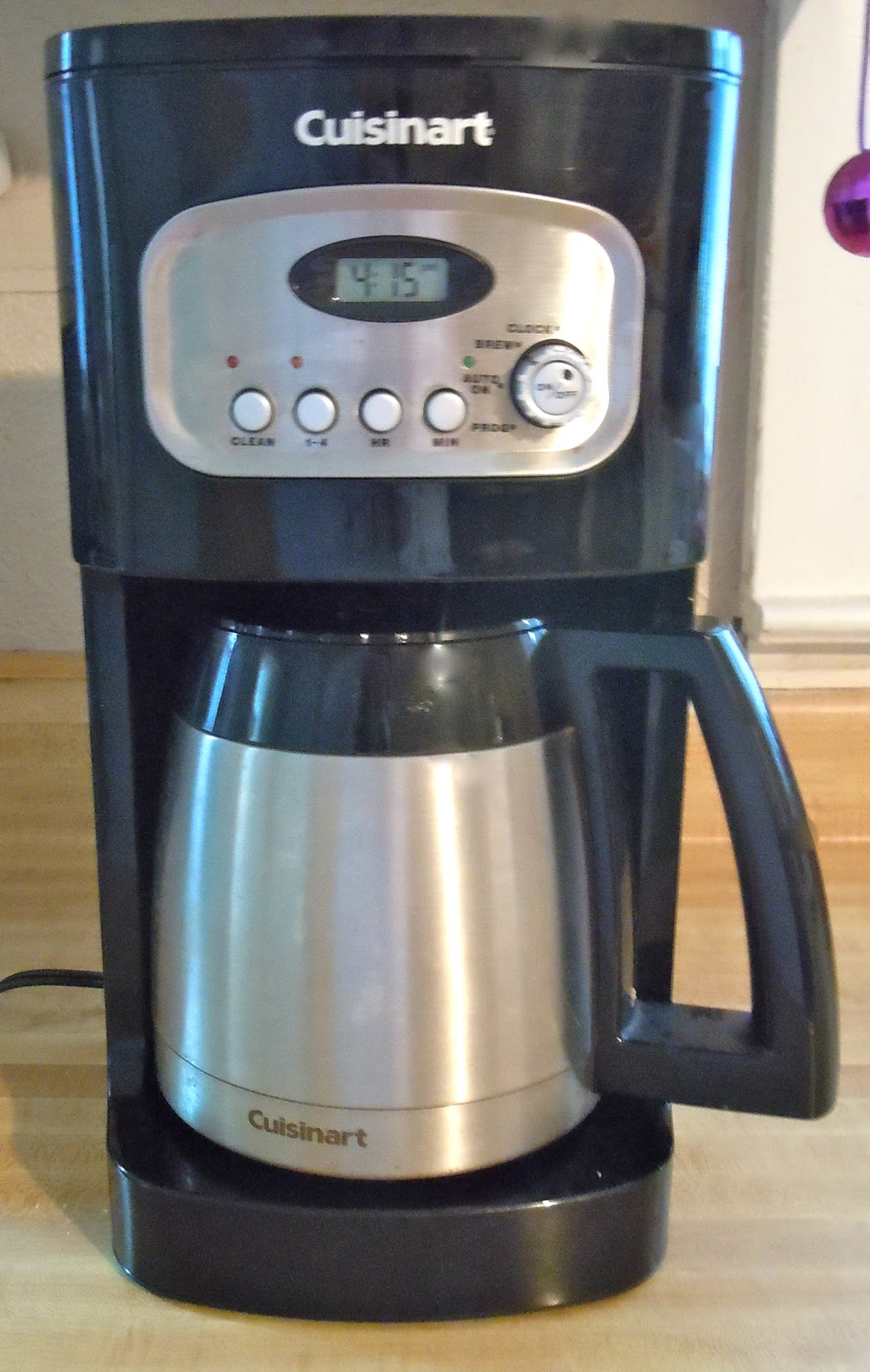 Thermal Coffee Maker Ratings Reviews : Samantha Rambles: Cuisinart 10 Cup Programmable Thermal Coffee Maker Review