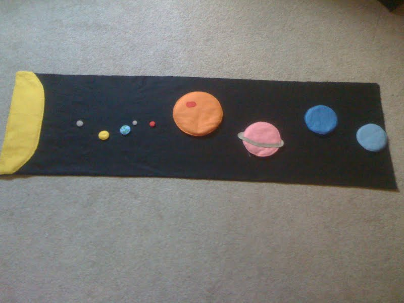 Felt Space Mat (Photo from Homeschool Escapade)