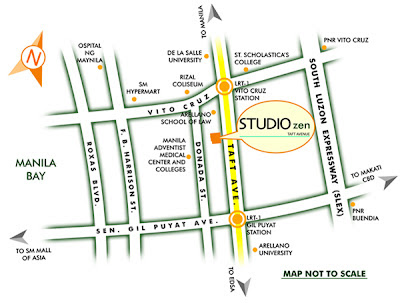 Studio Zen Taft Manila Location Map, Condominium for sale in Taft Manila, Filinvest