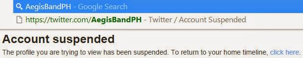 Aegis Twitter suspended