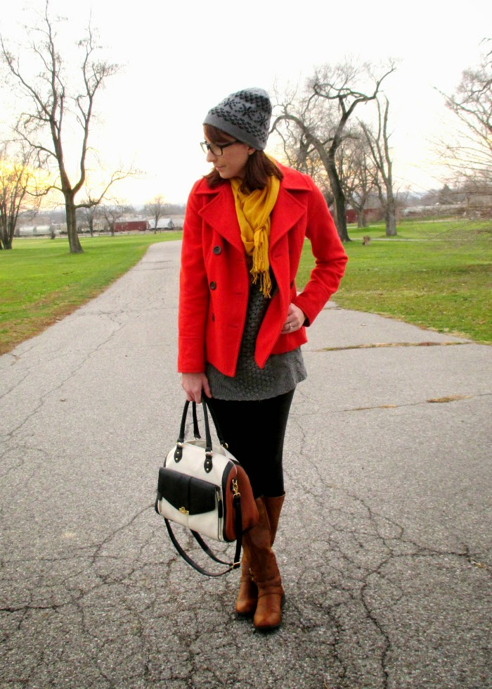 Perfect cold weather look winter layering