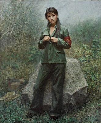chinese army women hot