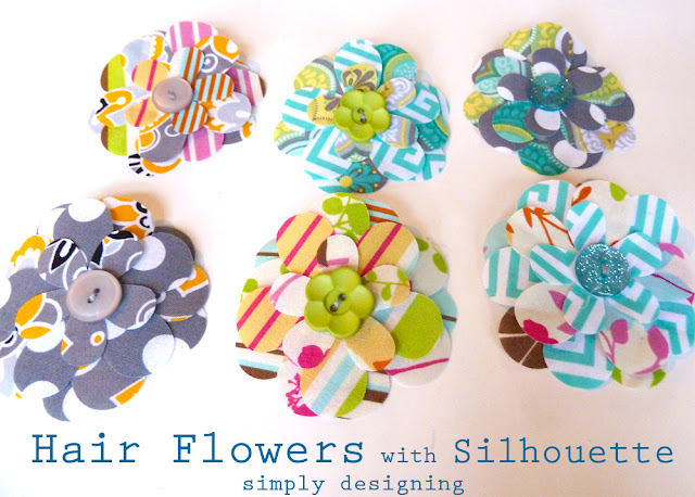 Fabric Hair Flowers using a Silhouette - #silhouette #spon #hairbows #craft