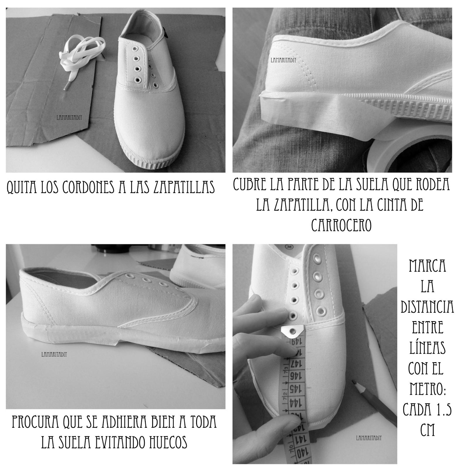 DIY pintar zapatillas a mano