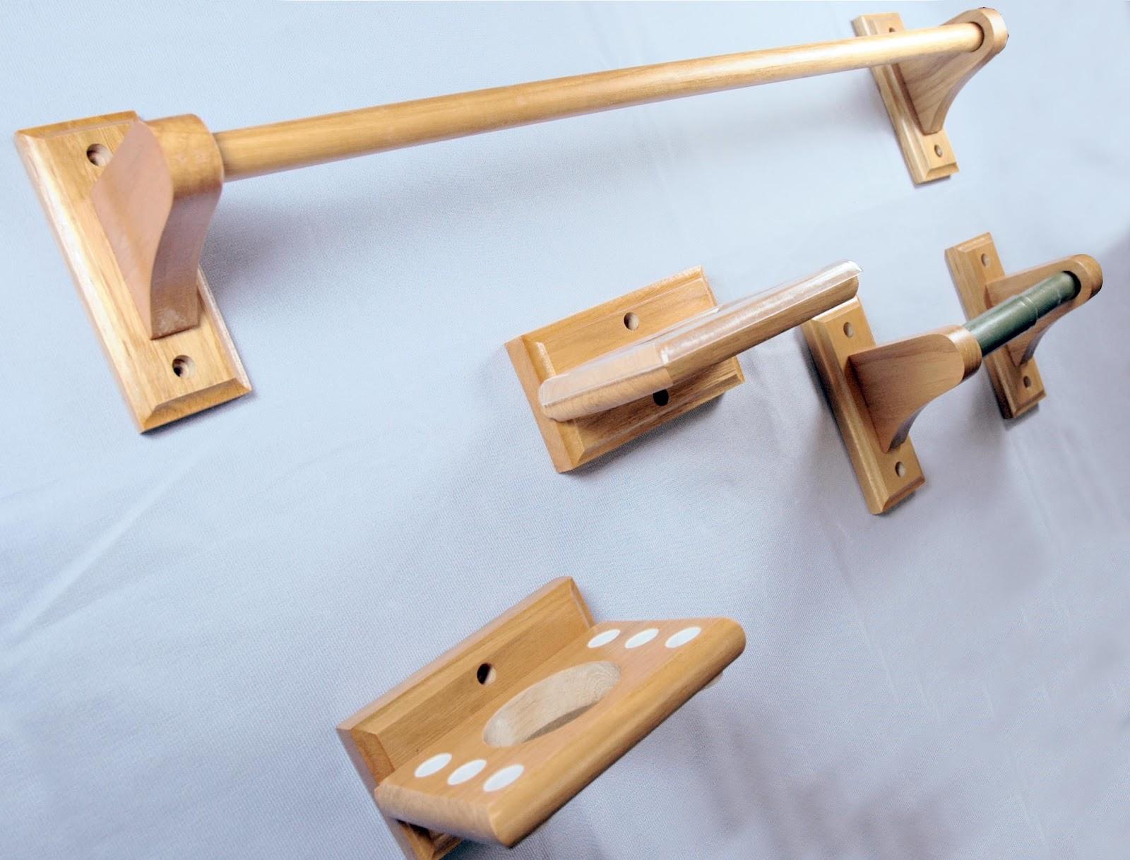 Juegos De Baño Jaboneras:Juegos de Accesorios Madera Solid Oak  Fabricados en Roble Incluye